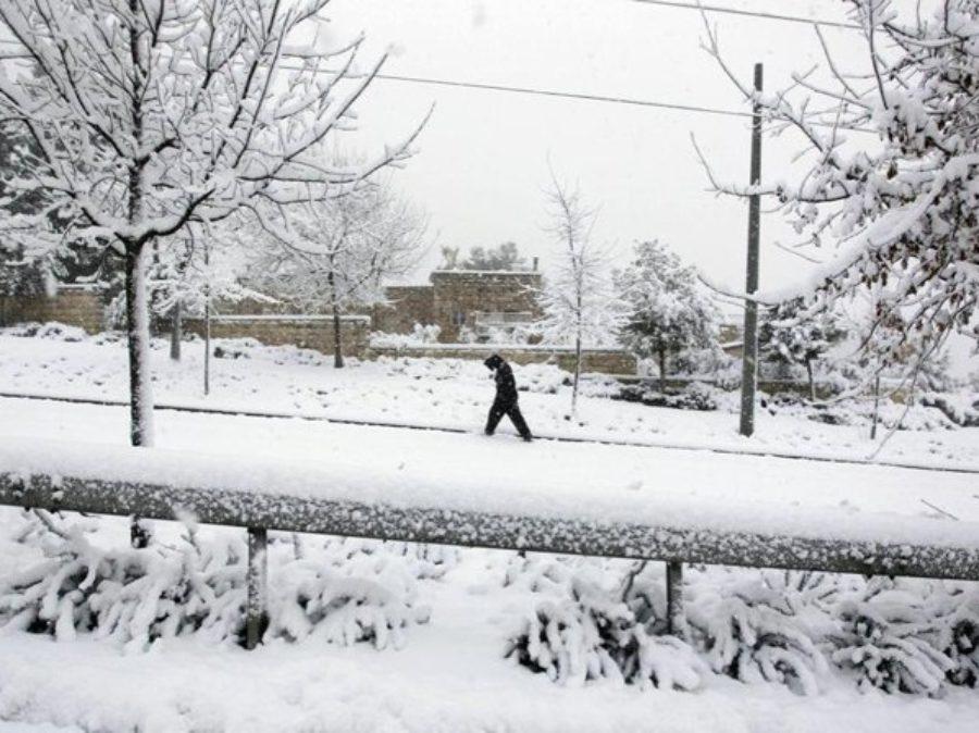 Neve su Gerusalemme ed Egitto