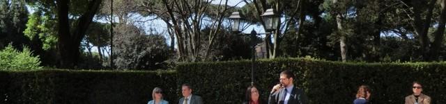 La cerimonia con i ragazzi di Verona a Porta Metronia