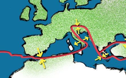 Tettonica nel bacino del Mediterraneo