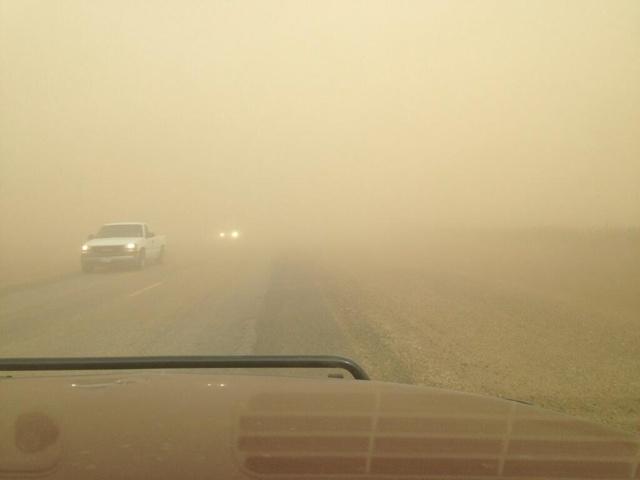 Tempesta di sabbia in Texas