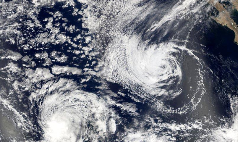 Uragano nel Pacifico