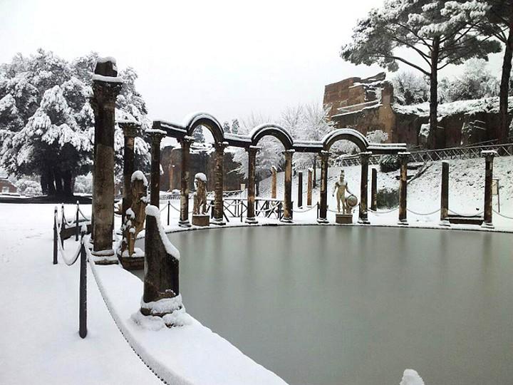 Villa Adriana sotto la neve (febbraio 2012)