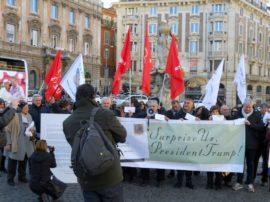 Successo della manifestazione a Roma (promossa da Accademia Kronos) in occasione dell'insediamento del nuovo Presidente USA, Donald Trump