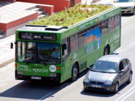 Aria migliore in città? Giardini sul tetto degli autobus!