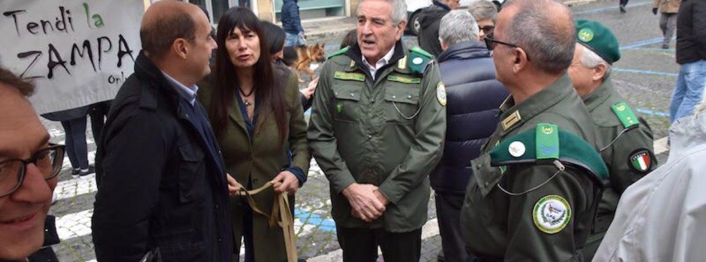 Il Presidente della Regione Lazio ringrazia le nostre guardie zoofile per il lavoro che stanno svolgendo