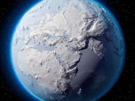 """La Terra """"palla di neve"""""""