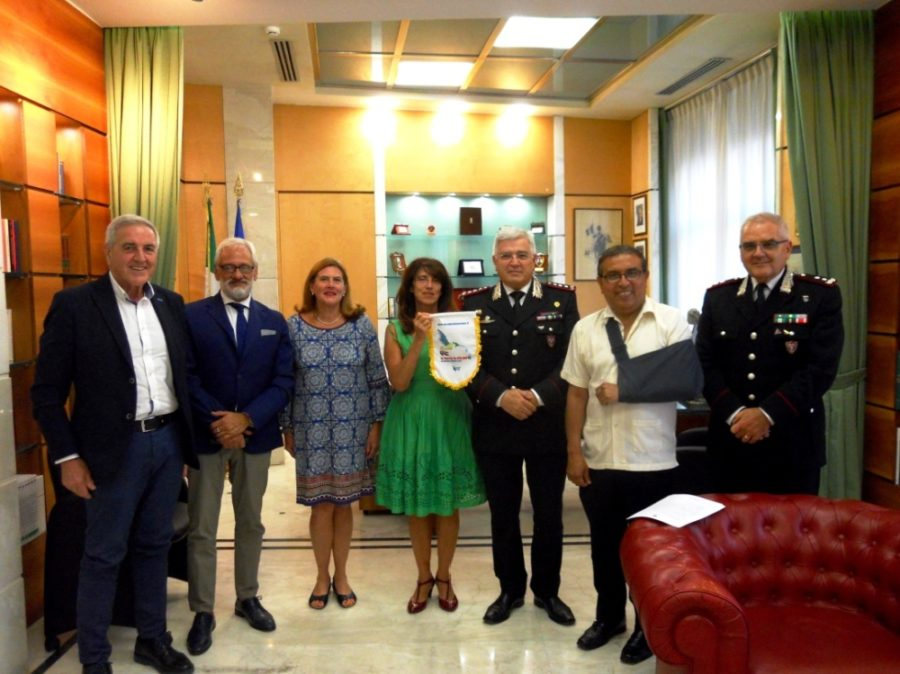 Incontro ufficiale con il nuovo comandante dei Carabinieri Forestali e con l'ambasciatore della Costarica