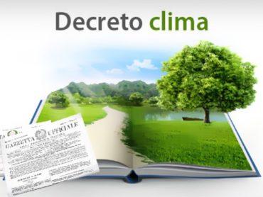 Considerazioni sul recente decreto clima