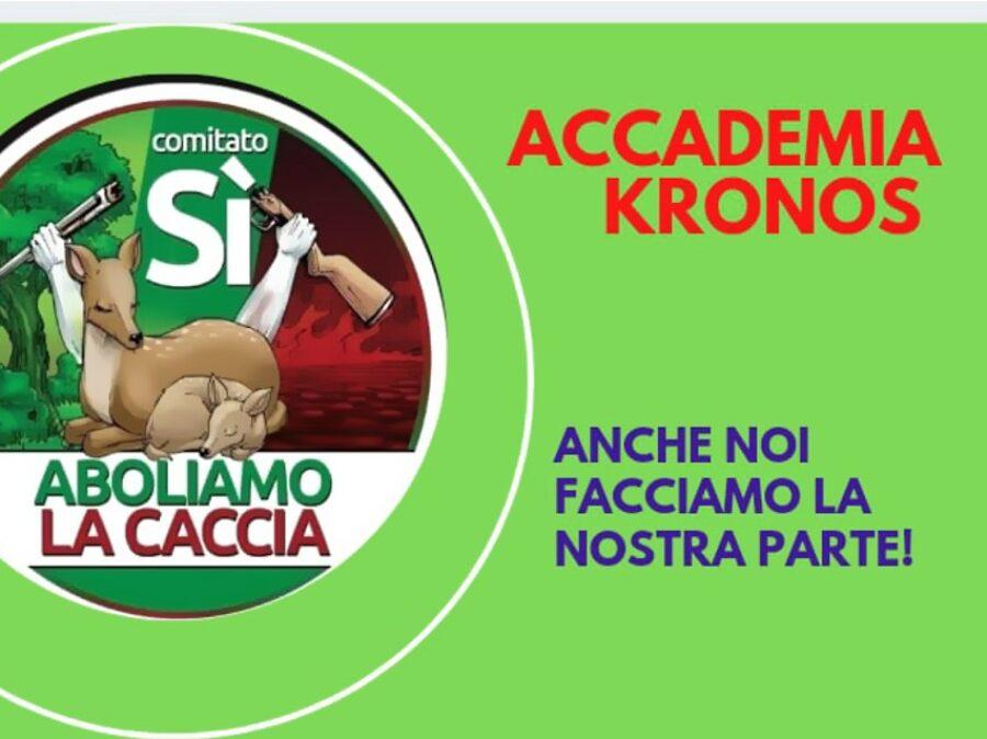 Referendum contro la caccia, la posizione di Accademia Kronos